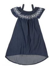 Dresses - A-Line Dress W/ Embroidered Smock (4-6X)-2340918