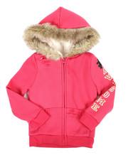 Hoodies - Sherpa Lined Distressed Fleece Hoodie (4-6X)-2334668