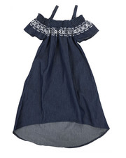 Dollhouse - A-Line Dress W/ Embroidered Smock (7-16)-2340970
