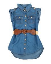 Girls - Light Denim Dress (2T-4T)-2341489