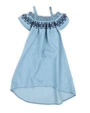 Dresses - A-Line Dress W/ Embroidered Smock (4-6X)-2341397