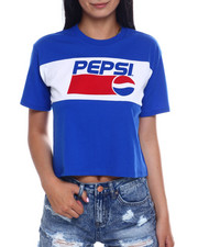 Women - SS Pepsi Color Block Crop Tee-2346516