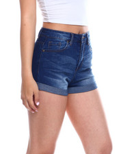 Fashion Lab - 1 BTTN Roll Cuff Denim Short-2344887