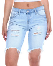 Women - Distressed Denim Bermuda-2343775