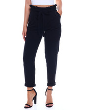 Women - Liverpool Paper Bag Waist Roll Cuff Straight Leg Pant-2344924