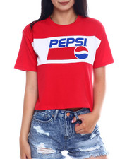 Women - SS Pepsi Color Block Crop Tee-2346483