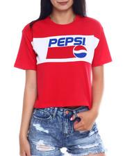 Spring-Summer-W - SS Pepsi Color Block Crop Tee-2346483