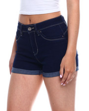 Bottoms - Hi Rise Roll Cuff Denim Short-2344842