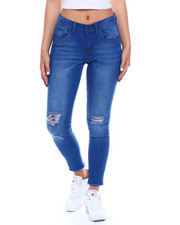 Fashion Lab - Ripped FRT/BK Ankle Jean-2340521