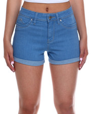 Bottoms - Hi Rise Roll Cuff Denim Short-2343751