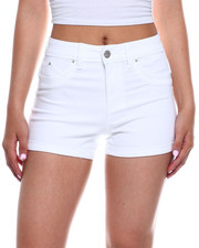 Bottoms - Hi Rise Roll Cuff Denim Short-2343743