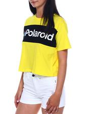 Graphix Gallery - SS Polaroid Color Block Crop Tee-2346384
