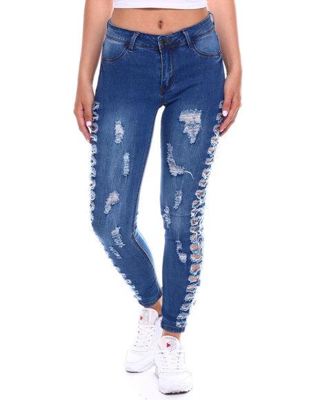 Fashion Lab - Hi Waist Side Rip Jean