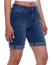 Bottoms - Hi Rise Denim Bermuda-2343727