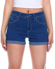 Bottoms - Hi Rise Roll Cuff Denim Short-2343735