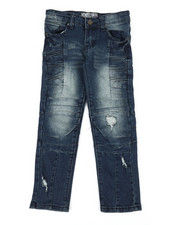 Bottoms - Ribbed Moto Stretch Jeans (4-7)-2337292
