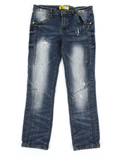 Bottoms - Ribbed Moto Stretch Jeans (8-20)-2337297