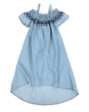 Dresses - A-Line Dress W/ Embroidered Smock (7-16)-2342135