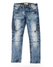 Bottoms - Ribbed Moto Stretch Jeans (8-20)-2337308