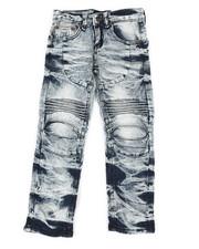 Boys - Ribbed Moto Stretch Jeans (4-7)-2337269