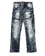Sizes 8-20 - Big Kids - Waterproof Zip Trim Jeans (8-20)-2342076
