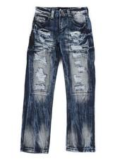 Sizes 8-20 - Big Kids - Waterproof Zip Trim Jeans (8-20)-2342064