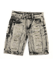 Boys - Zip Trim Ripped Denim Shorts (4-7)-2342008