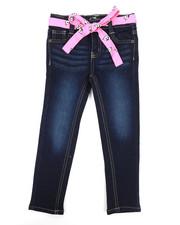 Girls - Denim Jeans W/ Sash Belt (4-6X)-2342670