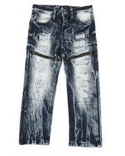 Boys - Waterproof Zip Trim Jeans (4-7)-2342071