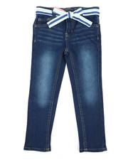 Girls - Denim Jeans W/ Sash Belt (4-6X)-2342687