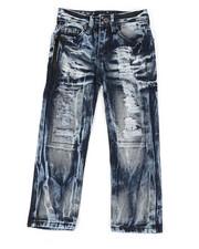 Boys - Waterproof Zip Trim Jeans (4-7)-2342059