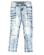 Bottoms - Ribbed Moto Stretch Jeans (8-20)-2337280