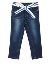 Jeans - Denim Jeans W/ Sash Belt (2T-4T)-2342700
