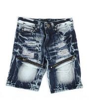 Boys - Zip Trim Ripped Denim Shorts (4-7)-2342018