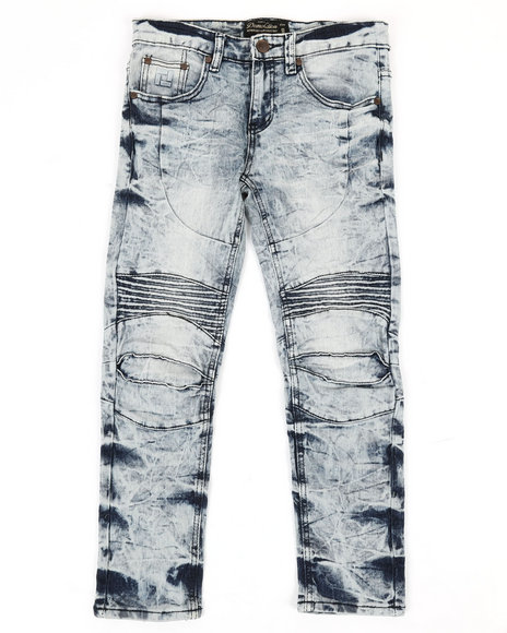 Arcade Styles - Ribbed Moto Stretch Jeans (8-20)