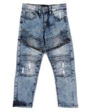 Boys - Denim Jeans W/ Zipper Detail (4-7)-2337784
