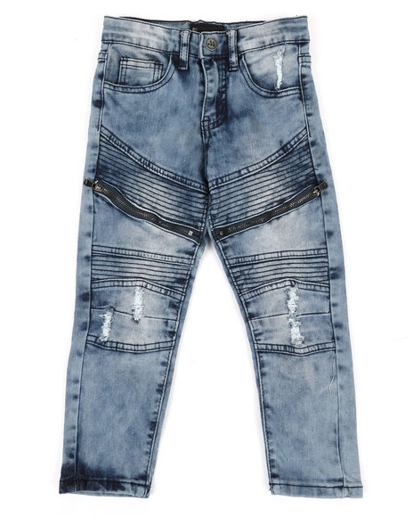 Arcade Styles - Denim Jeans W/ Zipper Detail (4-7)