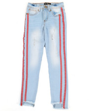Girls - Jeans w/ Side Taping (7-16)-2342636