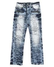 Sizes 8-20 - Big Kids - Waterproof Zip Trim Jeans (8-20)-2342040