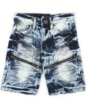 Boys - Zip Trim Ripped Denim Shorts (4-7)-2341970