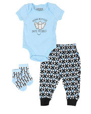 Duck Duck Goose - 3 Piece Slogan Knit Set (Infant)-2342131