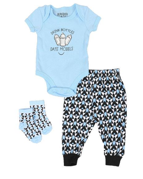 Duck Duck Goose - 3 Piece Slogan Knit Set (Infant)