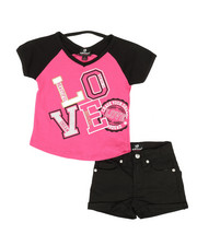 Dollhouse - 2 Pc Tee & Shorts Set (4-6X)-2342732