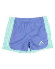 Girls - Three Striped Blocked Shorts (2T-6X)-2342097