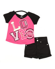 Dollhouse - 2 Pc Tee & Shorts Set (2T-4T)-2342736