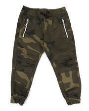 Pants - Stretch Washed Twill Moto Camo Jogger Pants (2T-4T)-2337431