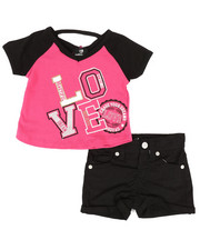 Dollhouse - 2 Pc Tee & Shorts Set (Infant)-2345629