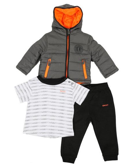 DKNY Jeans - Wall Street 3 Piece Jacket Set (Infant)