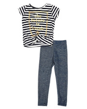 La Galleria - Striped Top & Legging Set (2T-4T)-2333953