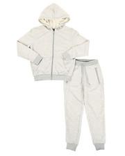 Sizes 8-20 - Big Kids - Marled Hoodie & Sweatpants Set (8-20)-2336681